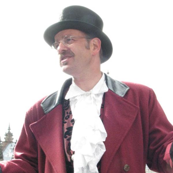 eller VerhalenvertGoderidus tijdens de stadswandeling Haarlem
