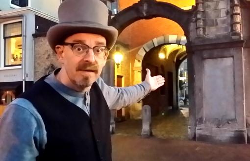 Dordrecht swandeling Storytrail verhalenverteller Godefridus 20 poort